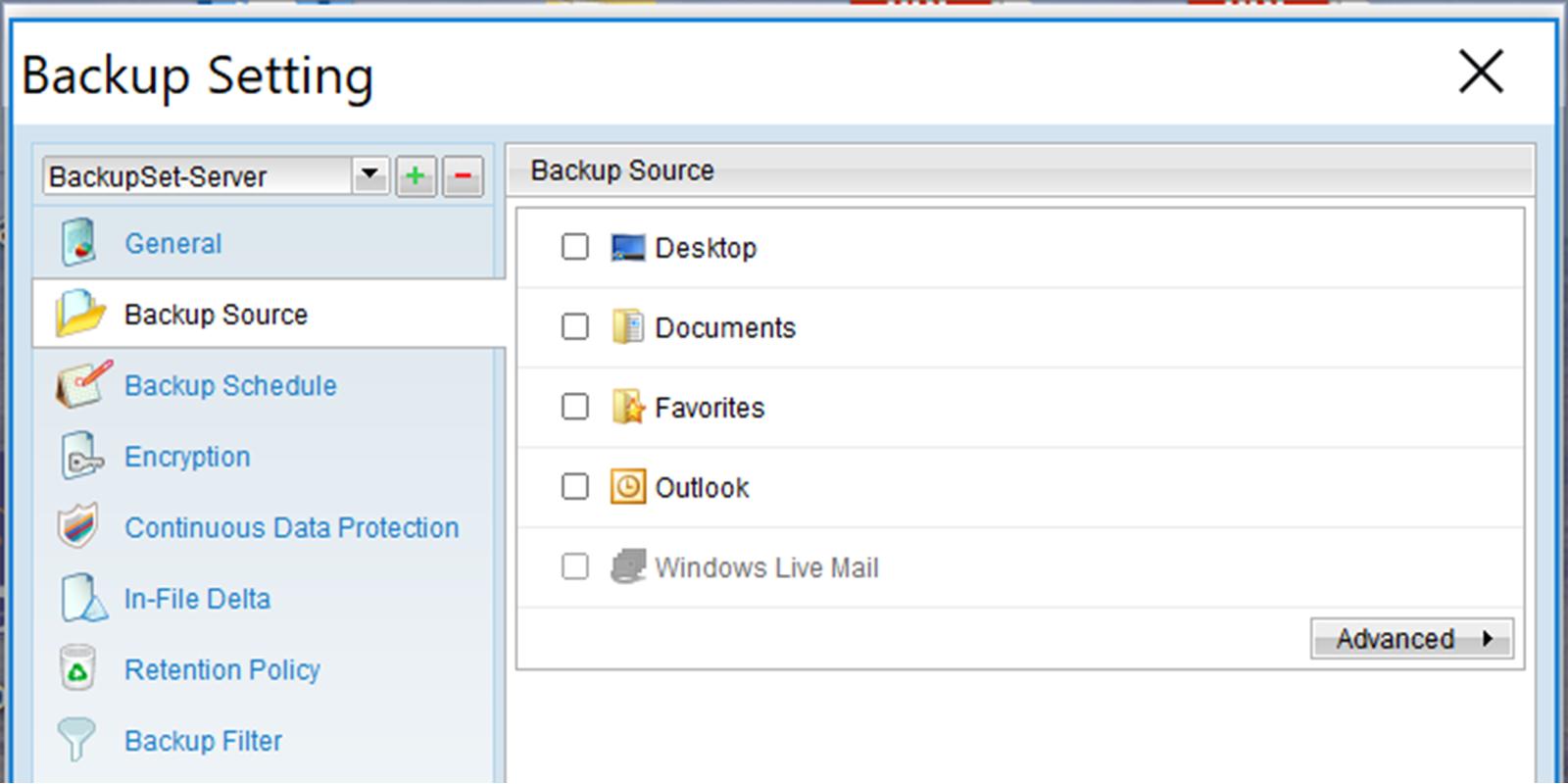 Backup Screenhot